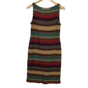 LRL Ralph Lauren Sleeveless Sweater Knit Dress S
